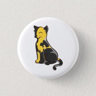 Bóton Redondo 2.54cm Botão preto e amarelo do gato do ouro de Ancap