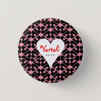 Bóton Redondo 2.54cm Botão redondo de Vartali do coração da seta