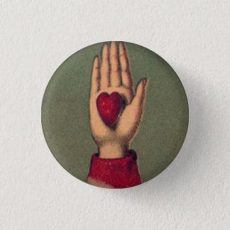 Bóton Redondo 2.54cm Botão redondo disponivel de 1 polegada do coração