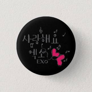 Bóton Redondo 2.54cm botão redondo do kpop do exo do haeyo do sarang