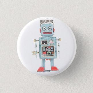 Bóton Redondo 2.54cm Botão retro do robô do brinquedo