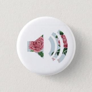 Bóton Redondo 2.54cm Botão sadio floral