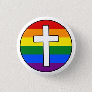 Bóton Redondo 2.54cm Botão transversal do arco-íris