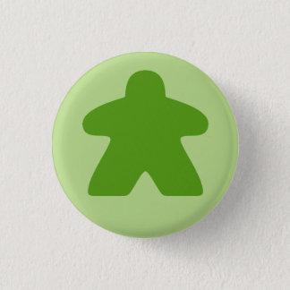 Bóton Redondo 2.54cm Botão verde de Meeple