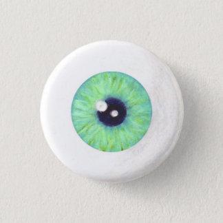Bóton Redondo 2.54cm Botão verde do globo ocular