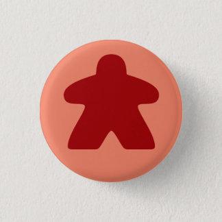 Bóton Redondo 2.54cm Botão vermelho de Meeple