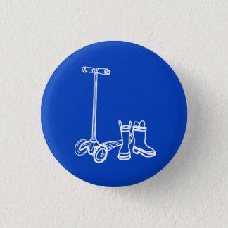 Bóton Redondo 2.54cm botas que scoot o botão