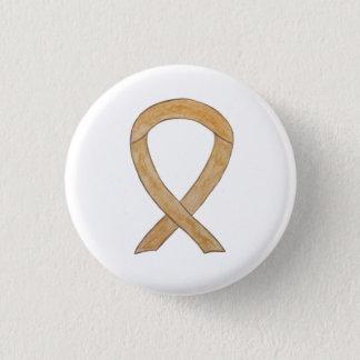 Bóton Redondo 2.54cm Botões ambarinos do Pin do cancer do apêndice da