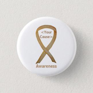 Bóton Redondo 2.54cm Botões do Pin do cancer da infância da fita da