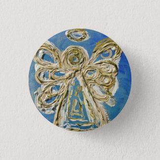 Bóton Redondo 2.54cm Botões, pinos, ou pendentes azuis do