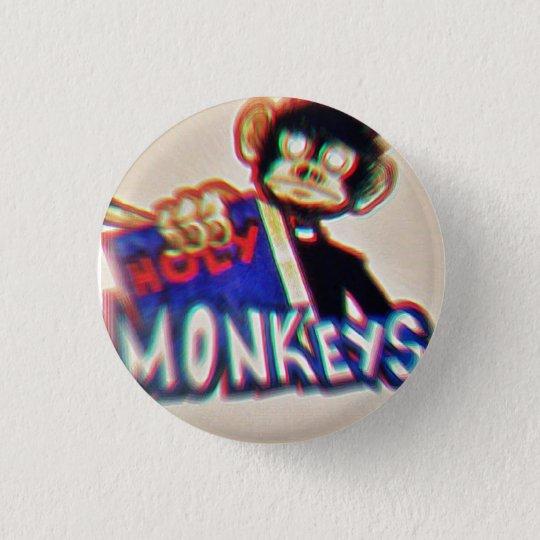 Bóton Redondo 2.54cm Botton Holy Monkeys
