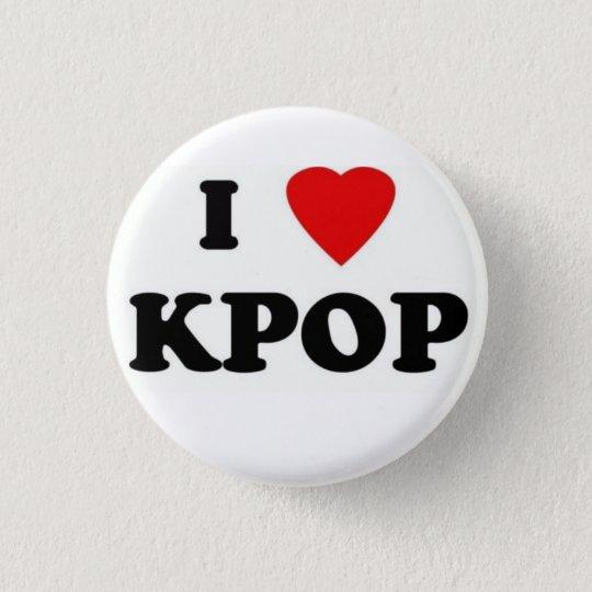 Bóton Redondo 2.54cm brochei love kpop