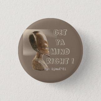 Bóton Redondo 2.54cm Brown obtem a mente de Ya o botão direito