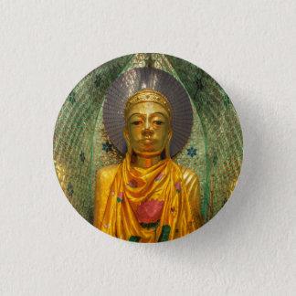 Bóton Redondo 2.54cm Buddha dourado no templo