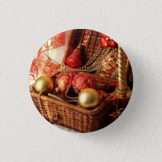 Bóton Redondo 2.54cm Caixa de Natal - decorações do Natal