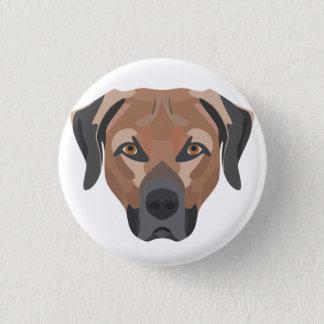 Bóton Redondo 2.54cm Cão Brown Labrador da ilustração