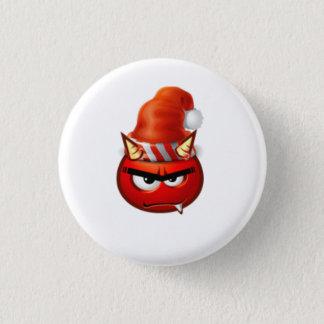 Bóton Redondo 2.54cm cara do Natal do menino do inferno engraçada
