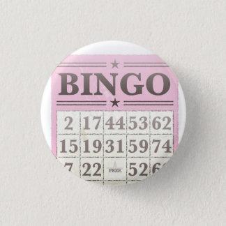 Bóton Redondo 2.54cm Cartão cor-de-rosa da contagem do Bingo