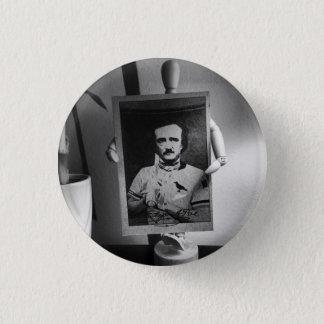 Bóton Redondo 2.54cm Cartão de basebol do botão de Edgar Allan Poe