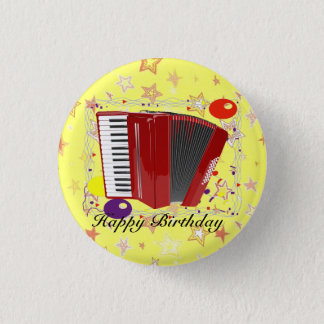 Bóton Redondo 2.54cm Celebração do acordeão
