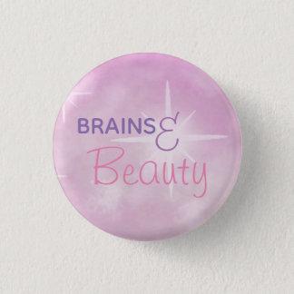 Bóton Redondo 2.54cm Cérebros e beleza