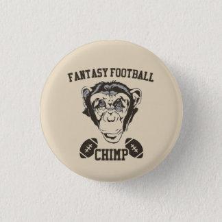Bóton Redondo 2.54cm Chimpanzé do futebol da fantasia