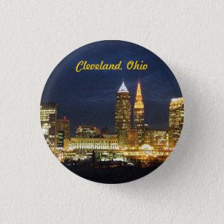 """Bóton Redondo 2.54cm Cleveland, Ohio """"noite ilumina"""" o botão"""