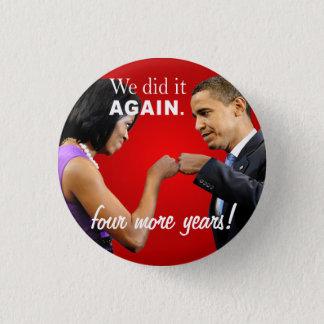 Bóton Redondo 2.54cm Colisão do punho da vitória de Barack e de
