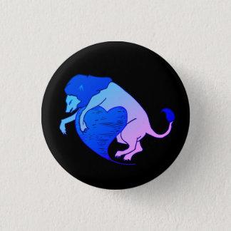 Bóton Redondo 2.54cm Coração do leão (azul)