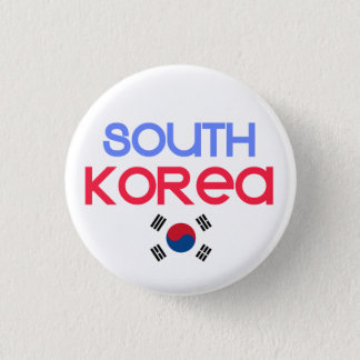 Bóton Redondo 2.54cm Coreia do Sul e a (bandeira coreana sul)