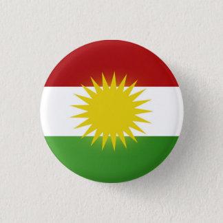 Bóton Redondo 2.54cm Crachá da bandeira do Curdistão (nîşan)