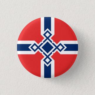 Bóton Redondo 2.54cm Crachá da cruz do Rune de Noruega