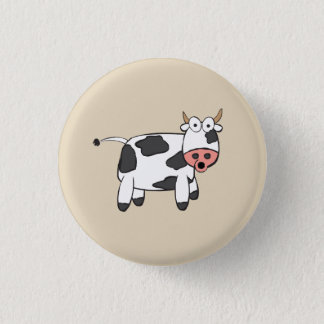 Bóton Redondo 2.54cm Crachá da vaca