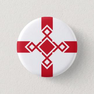 Bóton Redondo 2.54cm Crachá de Inglaterra - cruz anglo-saxão do Rune