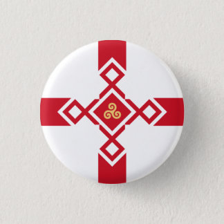 Bóton Redondo 2.54cm Crachá de Inglaterra - cruz do Anglo-Céltico