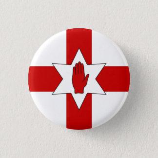 Bóton Redondo 2.54cm Crachá de Irlanda do Norte - estrela & mão na cruz