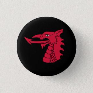 Bóton Redondo 2.54cm Crachá de Wales - cabeça do dragão de Galês no