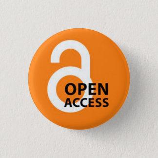 Bóton Redondo 2.54cm Crachá do acesso aberto