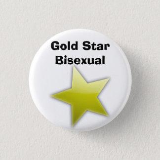 Bóton Redondo 2.54cm Crachá do Bisexual da estrela do ouro