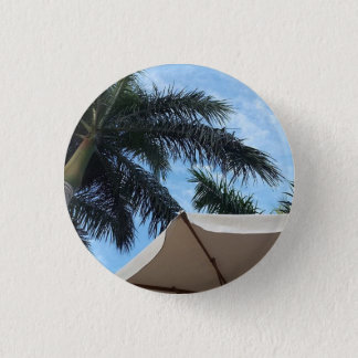 Bóton Redondo 2.54cm Crachá do botão da palmeira de Tenerife