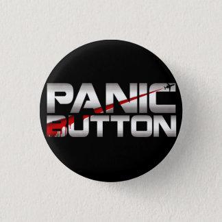 Bóton Redondo 2.54cm Crachá do corte do cromo do botão de pânico