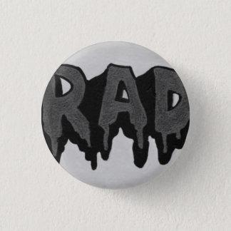 "Bóton Redondo 2.54cm Crachá preto e branco do Grunge do ""Rad"""