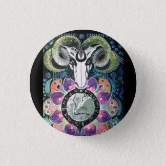 Bóton Redondo 2.54cm Crachá:  Ram de Wicca