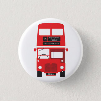 Bóton Redondo 2.54cm Crachá vermelho do ônibus de Londres