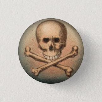 Bóton Redondo 2.54cm Crânio e Crossbones botão redondo de 1 polegada