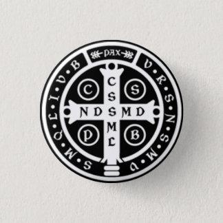Bóton Redondo 2.54cm Cruz da medalha do St. Benedict