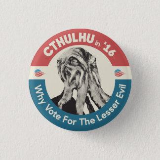 Bóton Redondo 2.54cm Cthulhu 'em 16 porque voto para pouco mau