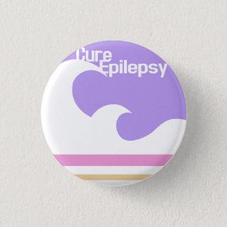 """Bóton Redondo 2.54cm Da """"botão da epilepsia cura mini"""""""