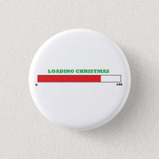 """Bóton Redondo 2.54cm Da """"botão do Natal carga"""""""