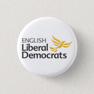 Bóton Redondo 2.54cm Democratas liberais inglesas
